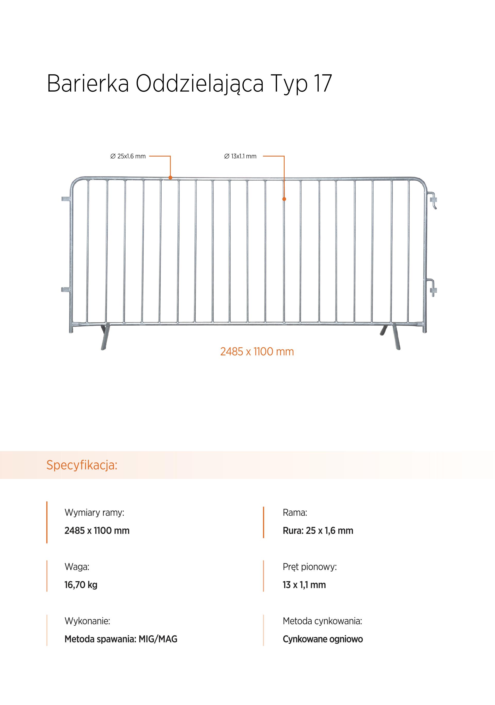 barierka eventowa - Wynajem ogrodzeń tymczasowych