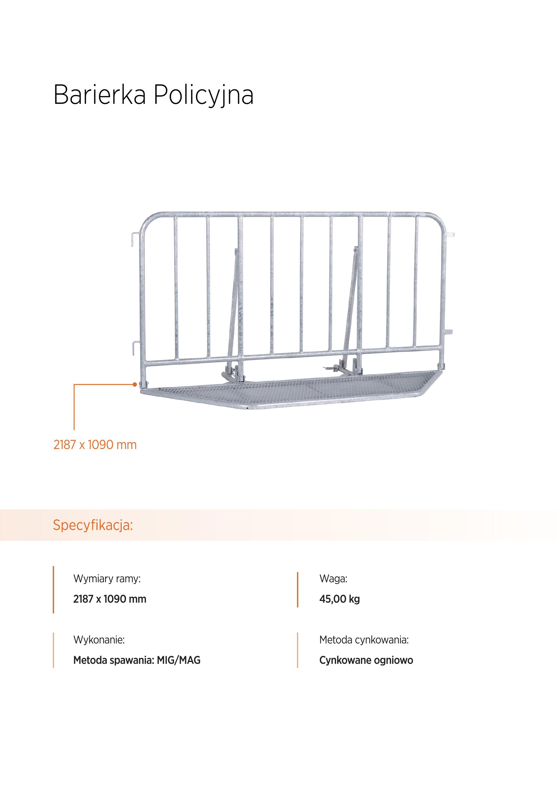 barierka policyjna - Wynajem ogrodzeń tymczasowych
