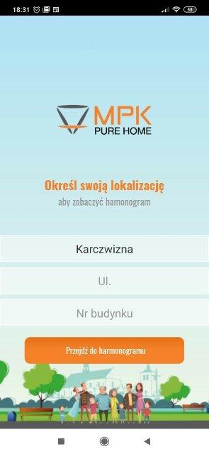 Harmonogram odbioru odpadów MPK Pure Home